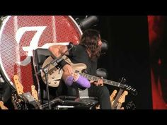 NME News Dave Grohl performs from giant throne as Foo Fighters return to stage in Washington DC - watch   NME.COM