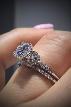 Custom Wedding Rings White Gold Over Womens Diamond Engagement Wedding Band Bridal Ring Set Wedding Rings Simple, Beautiful Wedding Rings, Beautiful Engagement Rings, Wedding Rings Vintage, Vintage Engagement Rings, Wedding Jewelry, Gold Jewelry, Gold Wedding, Jewellery Box