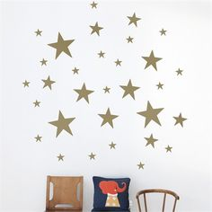 @rosenberryrooms is offering $20 OFF your purchase! Share the news and save!  Stars Kids Wall Sticker in Gold #rosenberryrooms
