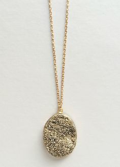 Golden Druzy Necklace - Made in NYC – Pree Brulee