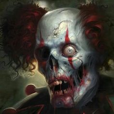 New Men's Zombie Clown V-Neck Black T Shirt Halloween Scary Mask Costume Joke Clown Pics, Gruseliger Clown, Clown Horror, Creepy Horror, Arte Horror, Joker Clown, Halloween Horror, Freaky Clowns, Evil Clowns