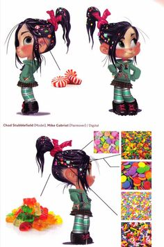 Concept Vanellope by Mike Gabriel