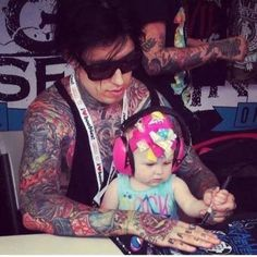 This is so cute! Ronnie and his daughter Willow.