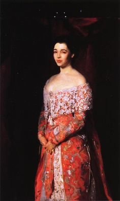 John Singer Sargent Mrs. Leopold Hirsch - Handmade Oil Painting Reproduction on Canvas
