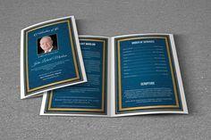 Printable Funeral Program Template  Obituary Program Template