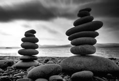 Zen in Stone. When I see this image I wanna have tea and meditate. Black N White Images, Black And White, How To Use Photoshop, Source Of Inspiration, Zen, Ireland, Stones, Rocks, Black N White