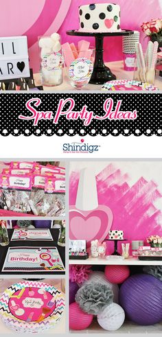 Coordinating treats, favors, and decorations are just a few things that make this Spa Party complete! Visit the blog for all the details on this Spa Birthday Party by @crowningdetails! Spa Day Party, Kids Spa Party, Spa Birthday Parties, Pamper Party, Girl Birthday Themes, Slumber Parties, Party Time, 10th Birthday, Sleepover