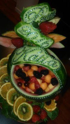 Custom prom fruit carving