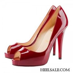 ba6cb603f8b4 Now Buy Christian Louboutin Very Prive Peep Toe Pumps Dark Red Cheap Save  Up From Outlet Store at Footlocker.