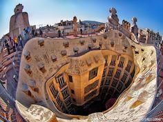 Barcelona - La Pedrera - Casa Mila by Claudia L aus B, via Flickr
