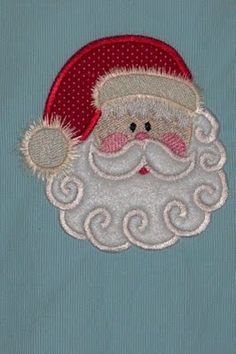 Santa Face Applique' ~ Great for girls and boys!