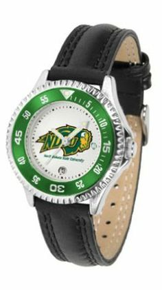North Dakota State Bison Competitor Ladies Watch with Leather Band by SunTime. $74.55. The hottest sports watch on the market, the Competitor features the North Dakota State Bison team logo boldly displayed on the dial along with a colorful rotating timer/bezel, quartz accurate movement and leather/nylon strap. The combined leather underneath and nylon on top makes the watch water resistant as well.¶Wear it to a game, while watching a game or just to show off your NCAA ...