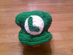 baby luigi crochet hat