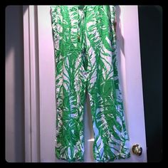 NWT Lilly Pulitzer for target pants Green and white Lilly pants. 31.5 inch inseam. NWT, just wrinkled from being folded. Lilly Pulitzer for Target Pants