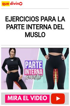 Ejercicios para la PARTE INTERNA DEL MUSLO Saris, Fitness, Movies, Play, Ideas, Home, Leg Workouts, Inner Thigh, Strong Legs