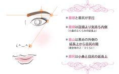これが眉毛の黄金比率! これが分からなくてはキレイな眉毛が描...|MERY [メリー]