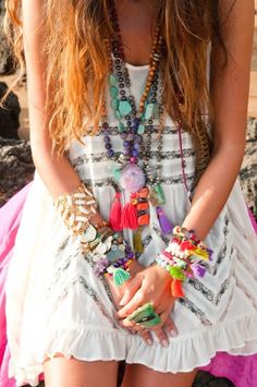 Colorful boho