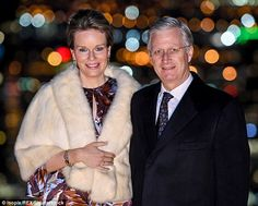 Queen Mathilde of Belgium looked glamorous as she joined husbandKing Philippe at a glitzy...