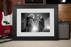 AC/DC with Axl storming through Detroit in the summer of 2016. 13 x 19 fine art black and white print on glossy finish photo paper.  The print has a .25 inch white border and is signed by the photographer, ready for framing. Frame NOT included and watermark is for online display only.  Visit me on: INSTAGRAM: www.instagram.com/BrandonDaArtist FLICKR: www.flickr.com/brandondaartist