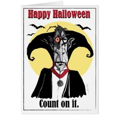 Count Dracula card fun cartoon illustration Card - Halloween happyhalloween festival party holiday