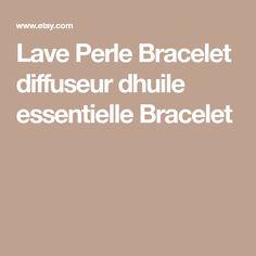 Lave Perle Bracelet diffuseur dhuile essentielle Bracelet