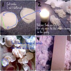 DIY Fabric flower bouquet :  wedding bouquet diy fabric flowers ivory pink Finaltuto3
