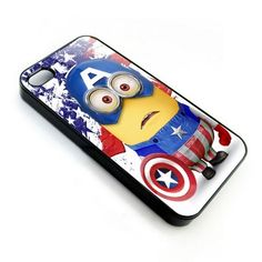 despicable me minion captain america apple iPhone 4 4s or iPhone 5 case, Price $22.89, free shipping.