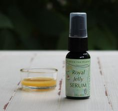 "Royal Jelly Serum containing powerful anti-oxidants and anti-aging ingredients.  Not only a secret of the beehive and fed to her majesty, the queen bee, it is also our ""secret"" ingredient in this amazing serum. It contains an abundance of vitamins, minerals, proteins, anti-oxidants and other powerful anti-aging ingredients."