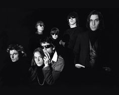 The Velvet Underground together with Andy Warhol and Factory Performers Gerard Malanga and Mary Woronov.