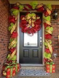 nativity deco mesh wreath - Google Search