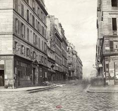 Rue d'Arcole 1865 Paris France, Saint Chapelle, Parvis, Ile Saint Louis, Belle Epoque, Images, Street View, History, Dame