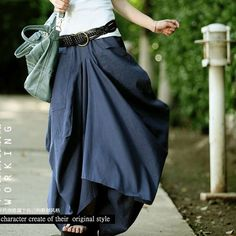 Skirt 2015 Saias Femininas Solid Skirts Womens Original design long skirt Big pocket Casual Linen skirt saia longa Maxi Skirt-inSkirts from Women's Clothing & Accessories on Aliexpress.com | Alibaba Group