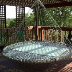 outdoor porch bed swing round outdoor swing bed trampoline hanging bed swing made from recycled within ideas round outdoor with canopy outdoor porch bed swing round Outdoor Hanging Bed, Outdoor Beds, Hanging Beds, Outdoor Decor, Outdoor Living, Hanging Furniture, Outdoor Hammock, Outdoor Furniture, Outdoor Bedroom