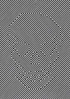 Mens t-shirt, optical illusion skull, ideal gift or birthday present. Op Art, Illusion Kunst, Illusion Art, Illusion Paintings, Skull And Bones, Skull Art, Line Art, Illustration, Street Art