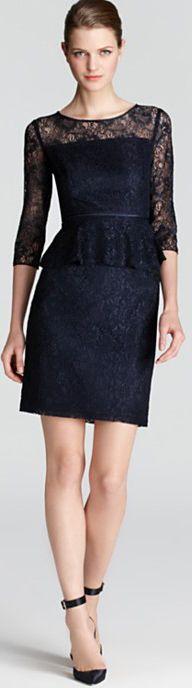 Adrianna Papell Peplum Dress - Lace