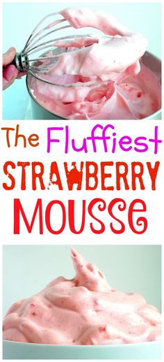 This Strawberry Mousse looks like ice cream, but i…