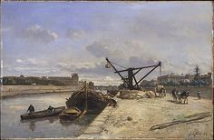 Johan Barthold Jongkind (Dutch, 1819–1891). View from the Quai d'Orsay, 1854. The Metropolitan Museum of Art, New York. Bequest of Meta Cecile Schwarz, 2001 (2001.652) #paris