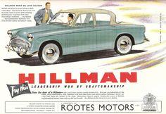 Vintage Hillman Ad - 1956