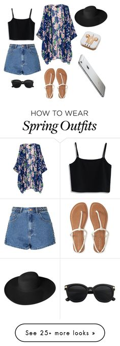 """""""Spring outfit"""" by desireeberdiago on Polyvore featuring Glamorous, Chicwish, Aéropostale, Dorfman Pacific and PhunkeeTree"""
