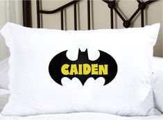 Personalized Pillow with Bat and Child's name by TheCuteTee, $14.95