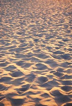Soft warm sand...it doesn't get any better.