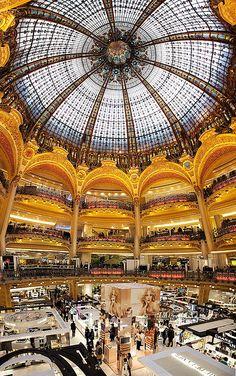 France - Paris: The Grand Galeries Lafayette by John & Tina Reid, via Flickr