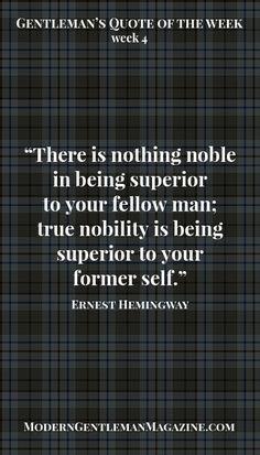True nobility...