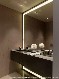 Pics On Very Large Illuminated Bathroom Mirrors