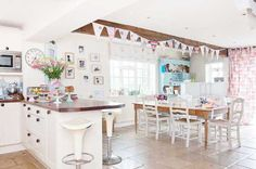 open plan kitchen and dining room A Fabulous British House Tour hand made stuff