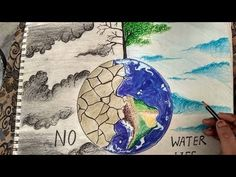 how to draw save water poster drawing - YouTube