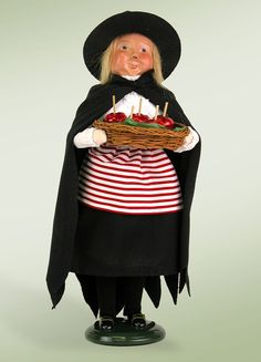 Byers Choice Witch with Candy Apples