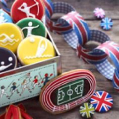 Olympic cookies from Biscuiteers via #TheCookiesCutterCompany #olympics