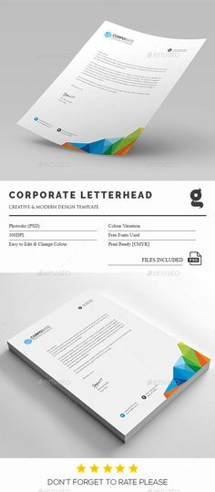 Business letterhead designs custom company letterheads usa buy corporate letterhead by generousartist on graphicriver file information print dimension with bleed trim mark photoshop psd cmyk print ready text spiritdancerdesigns Choice Image