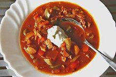 Soljanka- the recipe below explains it all. Esp. My German/Russian/Polish proclivity to loving this dish